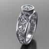 acanthus horse engagement ring bezel 1