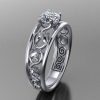 acanthus horse engagement ring 4