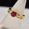 acanthus horse ruby diamond ring web
