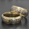 birch bark wedding bands 14k gold web