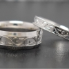 hand engraved white gold matching wedding bands web