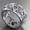 Acanthus Horse Ring in white gold