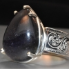 sunstone iolite hand engraved ring web