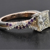 twist shank ring amethyst diamond web