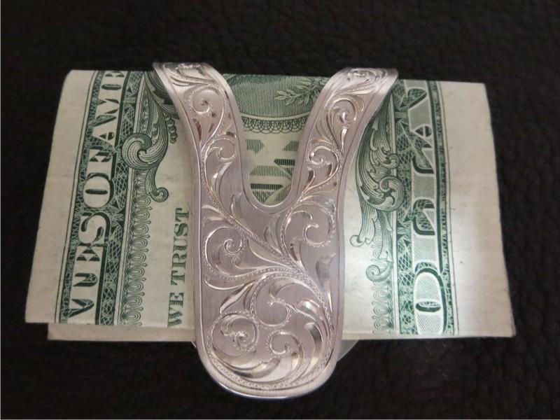 48ba095644ae money clip western style flare cut